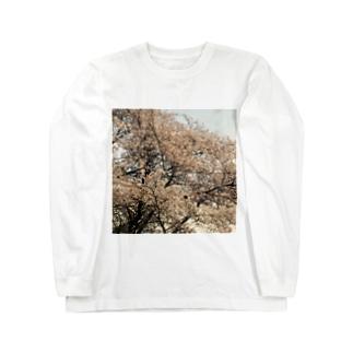 桜と星 ロングスリーブTシャツ