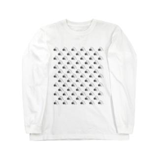 まるかじり猫ロゴTシャツ・明色向け ロングスリーブTシャツ