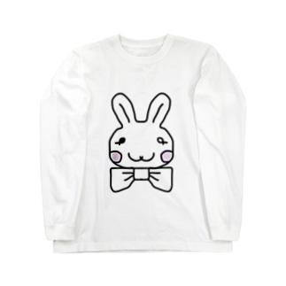 ブラックorホワイト ロングスリーブTシャツ