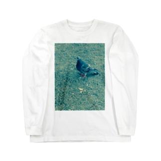 蒼い鳩 ロングスリーブTシャツ
