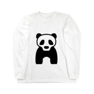 ぱんだ!!!!? ロングスリーブTシャツ