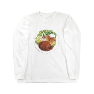 ハンバーグプレート ロングスリーブTシャツ