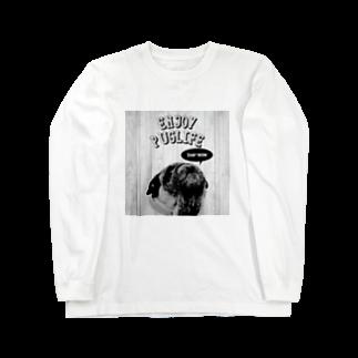 BUHITOLIFEのENJOY PUGLIFE(Fawn)ロングスリーブTシャツ