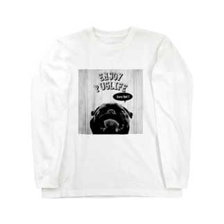 BUHITOLIFEのENJOYPUGLIFE(Black)ロングスリーブTシャツ