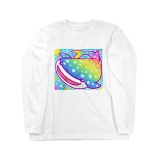 【虹色HAPPYレインボー】「ジンベエザメ」 ロングスリーブTシャツ