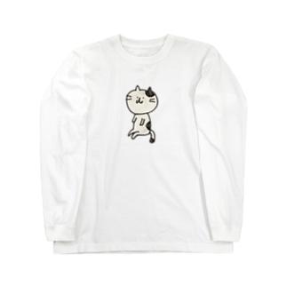 ねこ ロングスリーブTシャツ