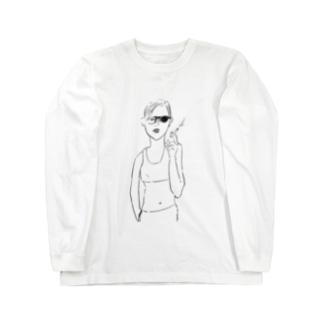 cigarette woman ロングスリーブTシャツ