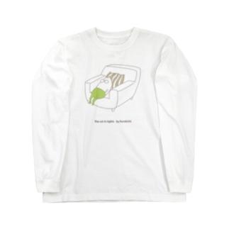 ねこタイツの休日 ロングスリーブTシャツ