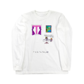 T is for Tea Party お茶会 ロングスリーブTシャツ