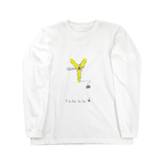Y is for Yo-Yo ヨーヨー 蜘蛛 ロングスリーブTシャツ
