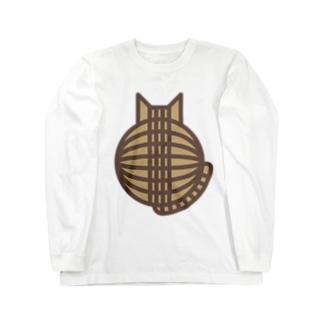 猫の丸い背中(キジトラ) ロングスリーブTシャツ ロングスリーブTシャツ