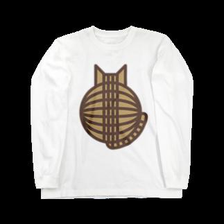 SHOP W SUZURI店の猫の丸い背中(キジトラ) ロングスリーブTシャツロングスリーブTシャツ