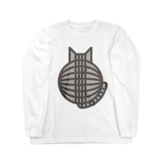 猫の丸い背中(サバトラ) ロングスリーブTシャツ ロングスリーブTシャツ