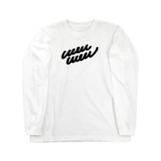wau wau クロクテユルイロゴ ロングスリーブTシャツ