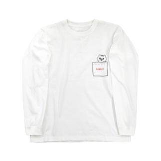 ポッケにkumaco ロングスリーブTシャツ
