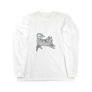 アメリカンショートヘアのグッズ ロングスリーブTシャツ