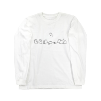 もいもい 走る ロングスリーブTシャツ