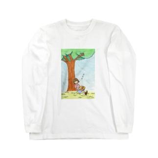 「おひるね」 ロングスリーブTシャツ