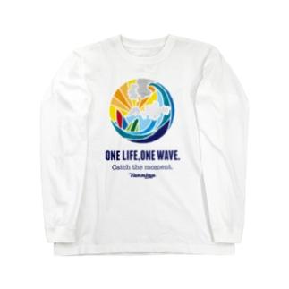 One life, One wave.(カラー) ロングスリーブTシャツ