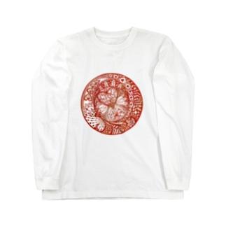 切り絵・ハートの女王 ロングスリーブTシャツ