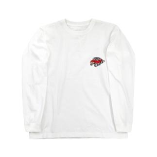 赤い車 ロングスリーブTシャツ
