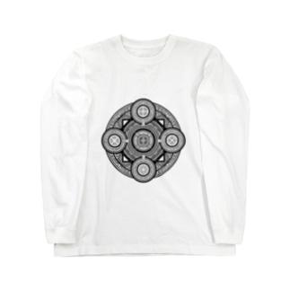 魔法陣#001黒字 ロングスリーブTシャツ