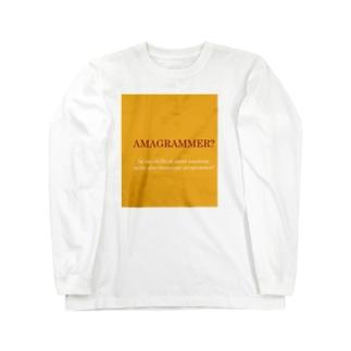 AMAGRAMMER? ロングスリーブTシャツ