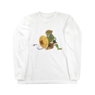 扇風機風神 ロングスリーブTシャツ