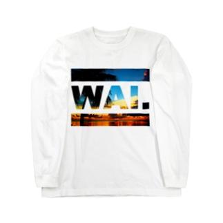 WAIロングT(ビーチ) ロングスリーブTシャツ