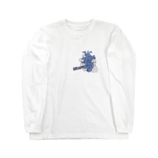 心臓(青)part2 ロングスリーブTシャツ