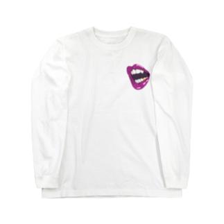 sexy lip grillz💋 ロングスリーブTシャツ