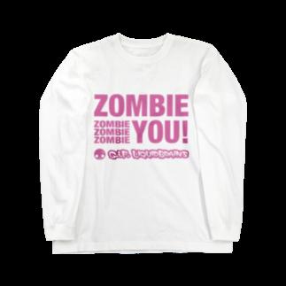 KohsukeのZombie You! (pink print)ロングスリーブTシャツ