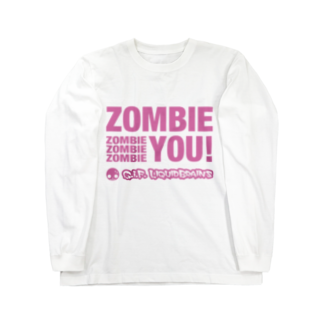 KohsukeのZombie You! (pink print) ロングスリーブTシャツ