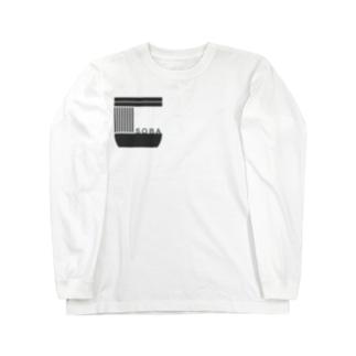 soba-logo KURO ロングスリーブTシャツ