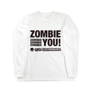 Zombie You! (black print) ロングスリーブTシャツ