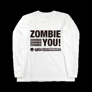 KohsukeのZombie You! (black print)ロングスリーブTシャツ