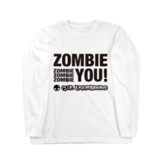 KohsukeのZombie You! (black print) ロングスリーブTシャツ