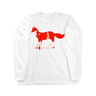 赤い狐 ロングスリーブTシャツ