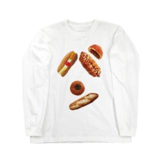 新デザインパンのパン文字 ロングスリーブTシャツ