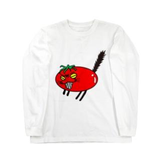 猫トマト:激おこ ロングスリーブTシャツ