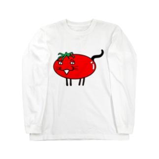 猫トマト ロングスリーブTシャツ
