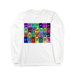 カラフルキモネコ ロングスリーブTシャツ