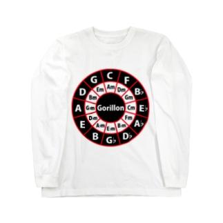 ゴリ論ロゴCiecle of Fifths ロングスリーブTシャツ