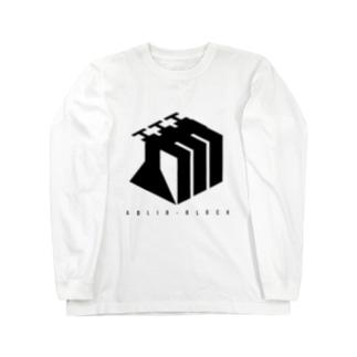 Adlib-Block -black- ロングスリーブTシャツ