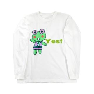 YESカエル ロングスリーブTシャツ