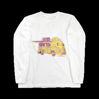 おやまくまオフィシャルWEBSHOP:SUZURI店のドライブおやまくま ロングスリーブTシャツ