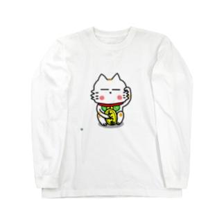 BK あーきちゃん招き猫バージョン ロングスリーブTシャツ