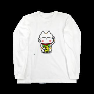 ビケ@BKF48 補欠のBK あーきちゃん招き猫バージョンロングスリーブTシャツ