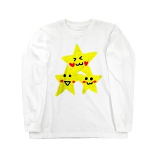 三つの個性スター♡ ロングスリーブTシャツ