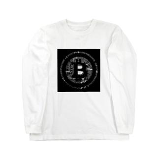 ブラックbitcoin ロングスリーブTシャツ
